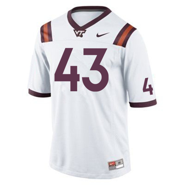 Men #43 Xavier Burke Virginia Tech Hokies College Football Jerseys Sale-Maroon